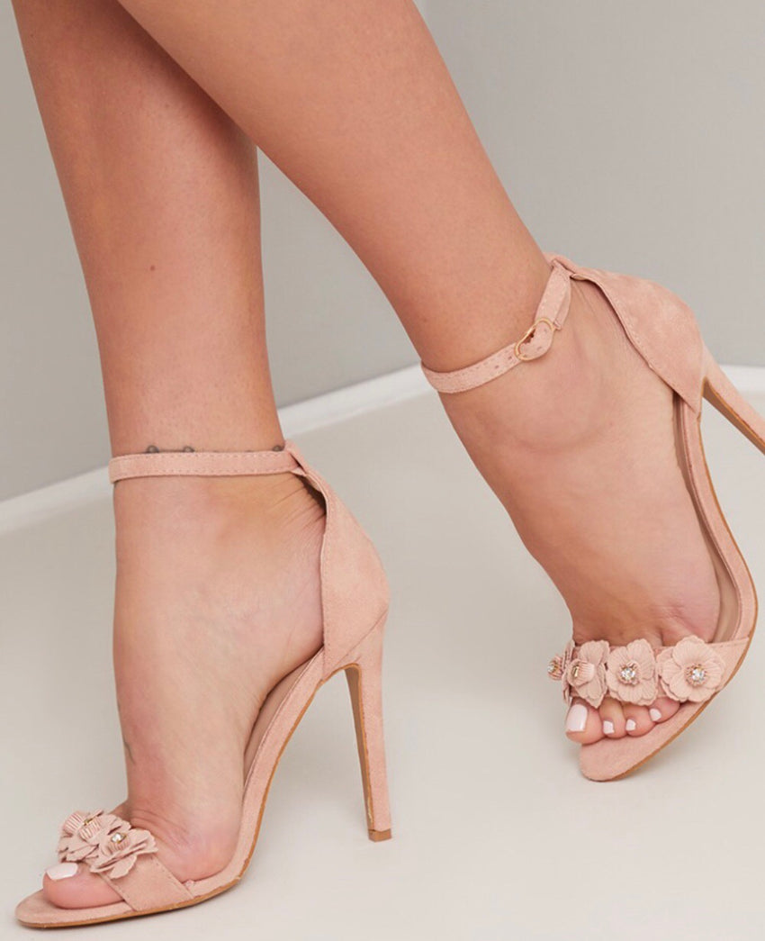 Nude Barely There Heels