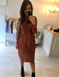 Burnt Orange Tie Knot Dress