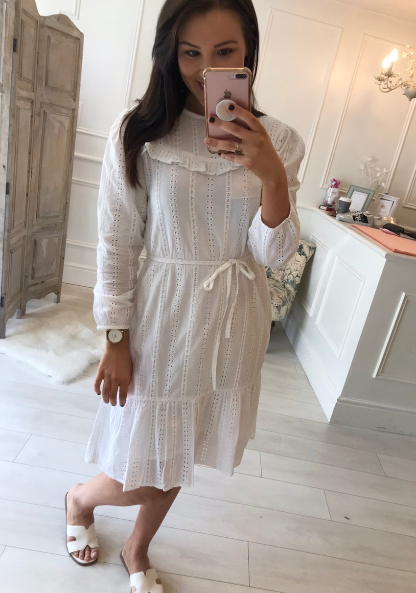 Daisy White Crochet Dress