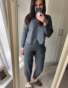 Grey Melanie Knitted Lounge Suit