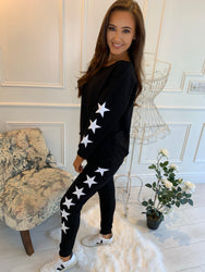 Steph Star Lounge Suit Black
