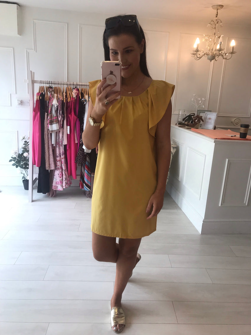 Mustard Frill Detail Dress