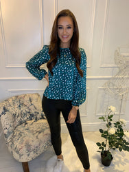 Jodie Green Print Top