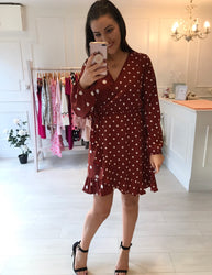 Mix Match Spot Skater Dress
