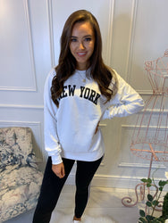 White New York Sweatshirt