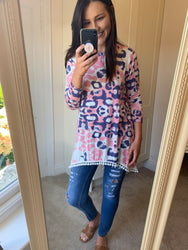 Callie Pink Printed Tunic