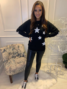 Millie Black Star Jumper