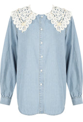 Yasmin Denim Detail Shirt