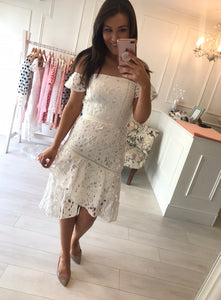 White Crochet Winslow Dress
