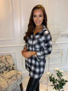 Olivia Black Check Shacket