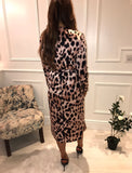 Yondal Midi Dancing Leopard Dress