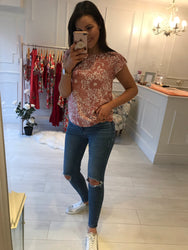Noreen Pink Printed Top