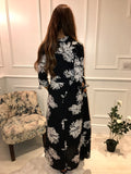 Black & White Peony Dancing Leopard Dress