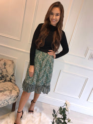 Green Paisley Skirt