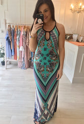 Tribal Printed Maxi Dress