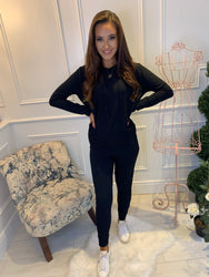 Heidi Hoodie & Jogger Co-Ord Lounge Suit Black