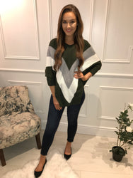 Khaki Knitted Jumper