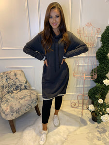 Becky Grey Long Line Jumper/Dress