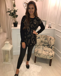 Black Diamanté Tunic