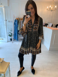 Beth Khaki Boho Tunic/Dress