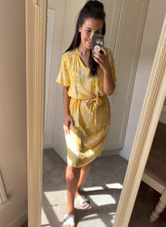 Violet Yellow Floral Dress
