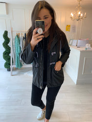 Rosie Black Rain Mac