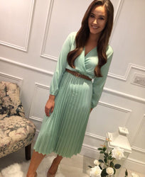 Mint Pleat Dress