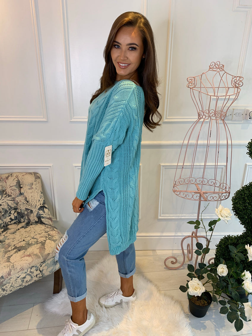 Sienna Mint Knitted Jumper