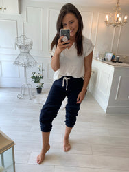 Gerri Navy Sweatpants