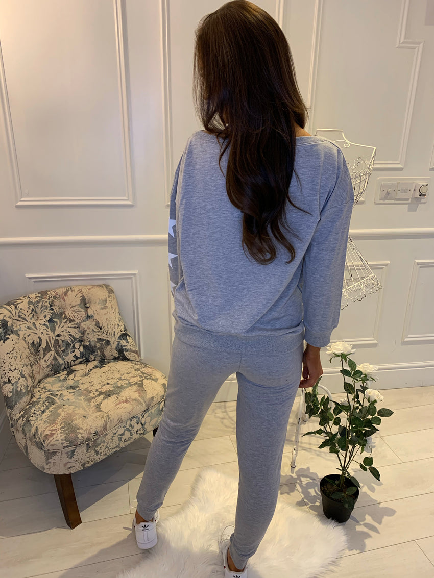 Steph Star Lounge Suit Grey
