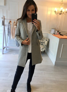 Grey Textured Coat