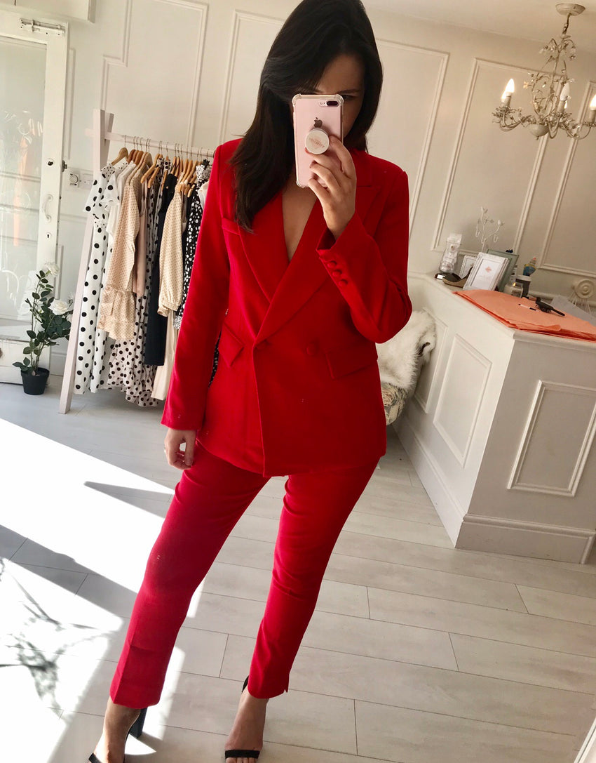 Red Tailored Suit