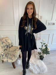 Crea Glitter Star Tunic Black