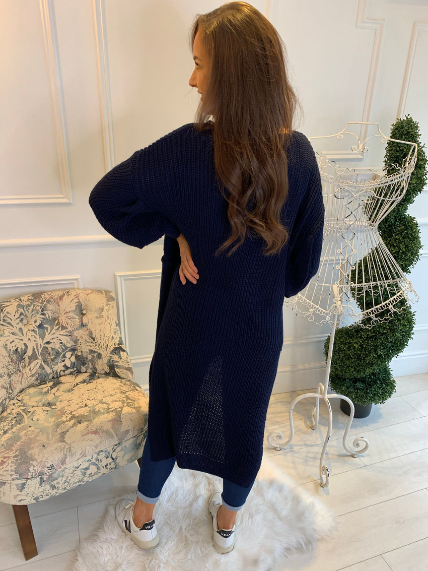 Ellie Knitted Cardigan Navy