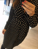 Black Dot Tie Knot Dress