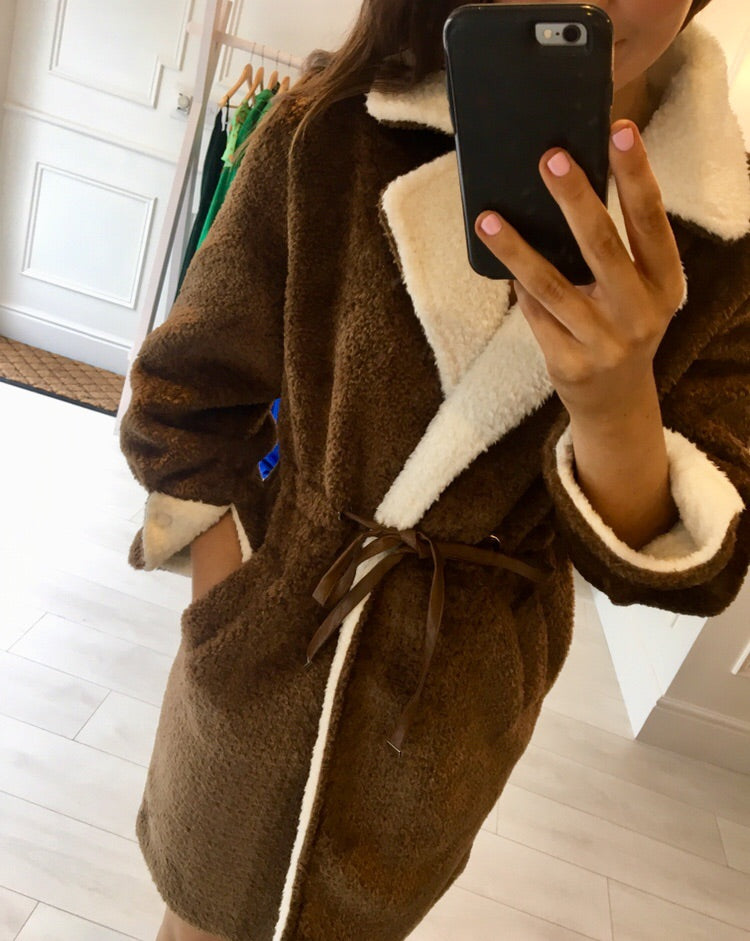 Chocolate Teddy Coat