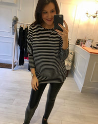 Black & White Stripe Top
