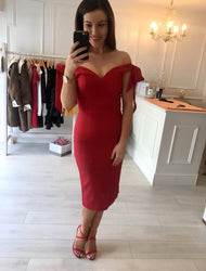 Red Phoebe Dress