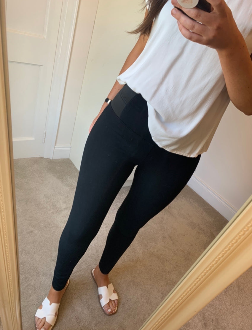 Torri Black Stretch Leggings