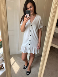 Whitney White Frill Dress