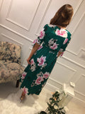 Emerald Green Floral Dress
