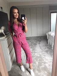 ATLANTIS WRAP JUMPSUIT IN RED DITZY-Dancing Leopard