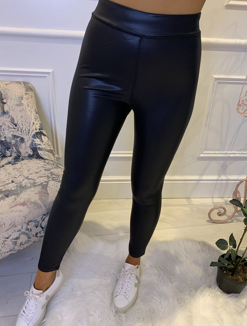 Cecily Leather Look Legging