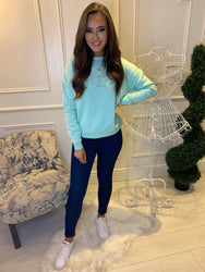 Sienna Mint Super Soft Shooting Star Sweater