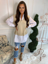 Steph Toffee Layered Top