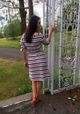 Stripe Collared Dress