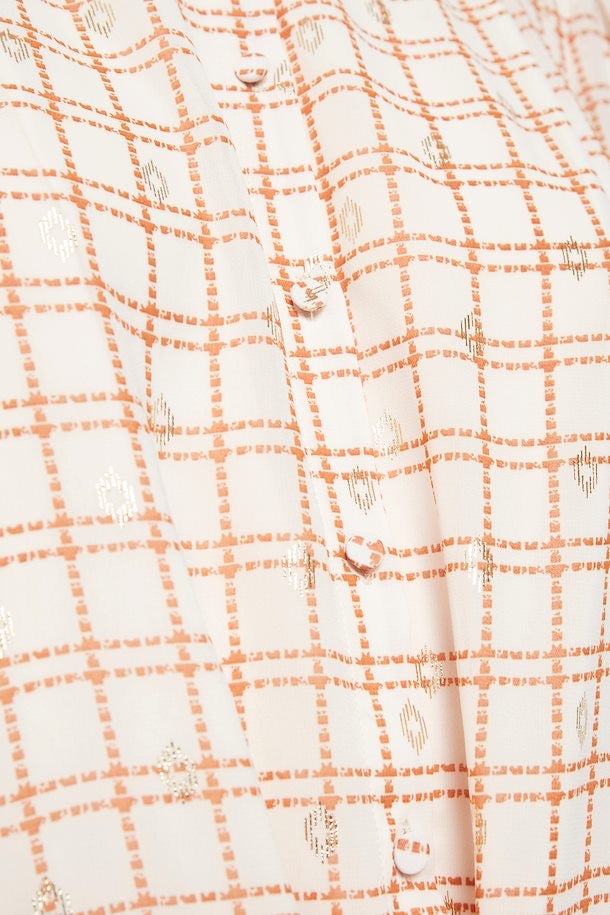 Emily Gold Speck Detail Dress
