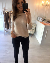 Beige Fine Knit Jumper