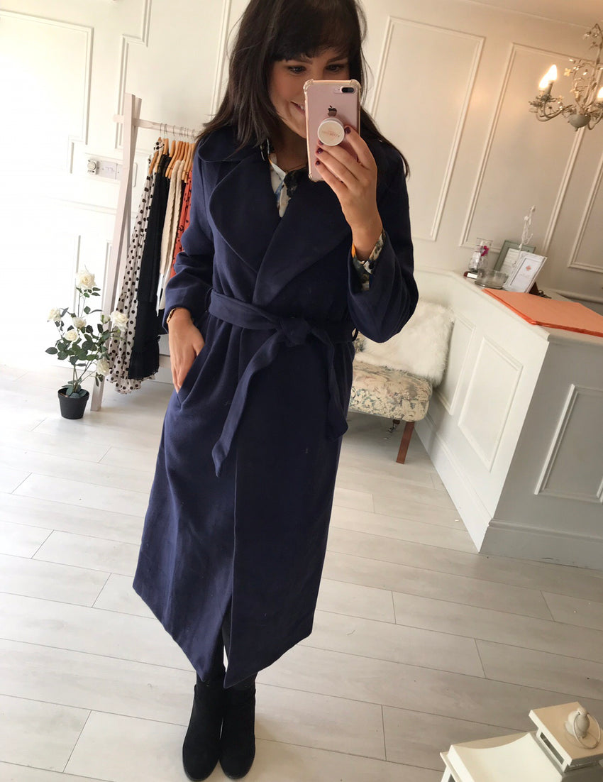 Mariano Navy Coat