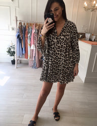 Cheetah Print Smock Dress